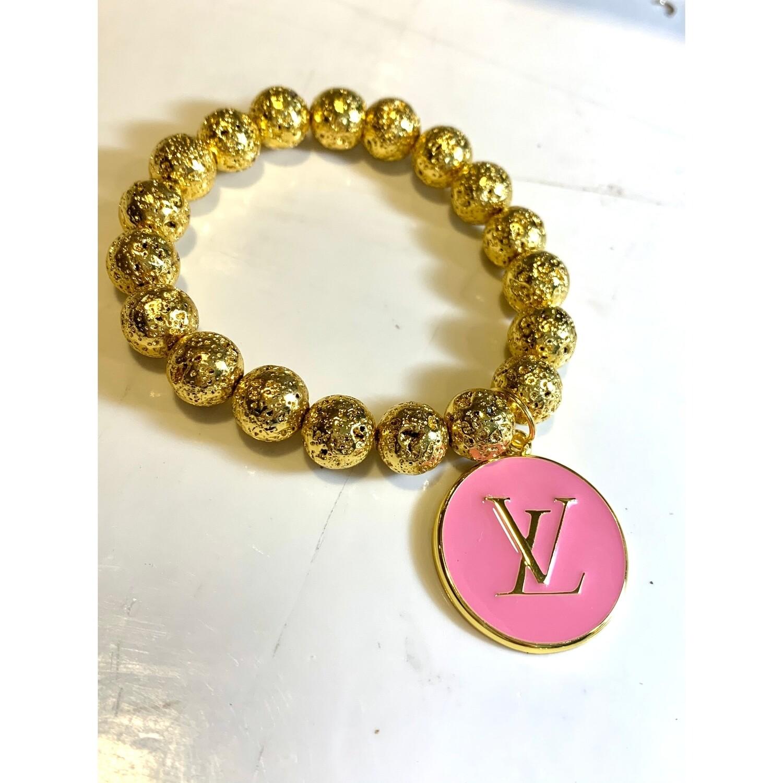 SJ Inspired Bracelet Pink LV