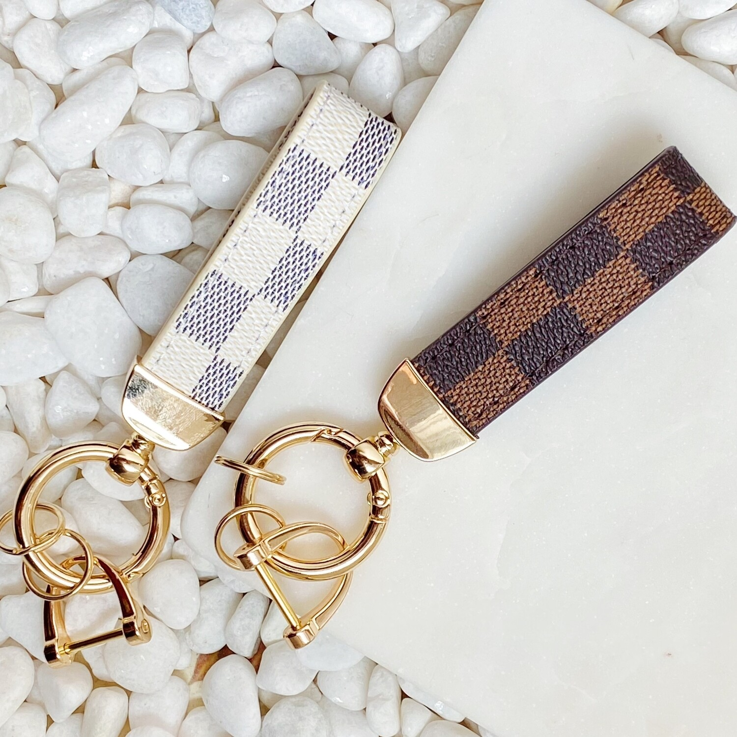 Inspired Luxe Keychain Brown
