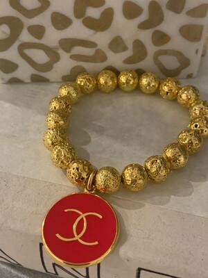 SJ Designer Bracelet Red CC
