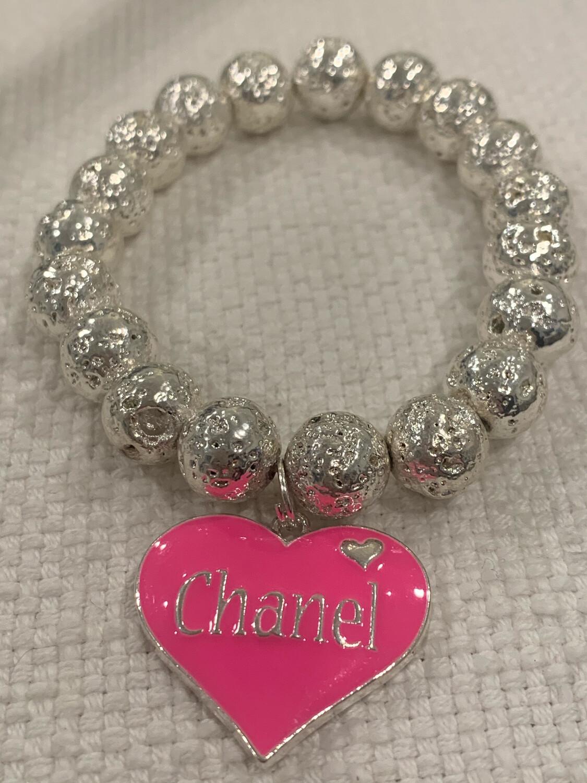 SJ Inspired Bracelet Hot Pink Heart Chanel