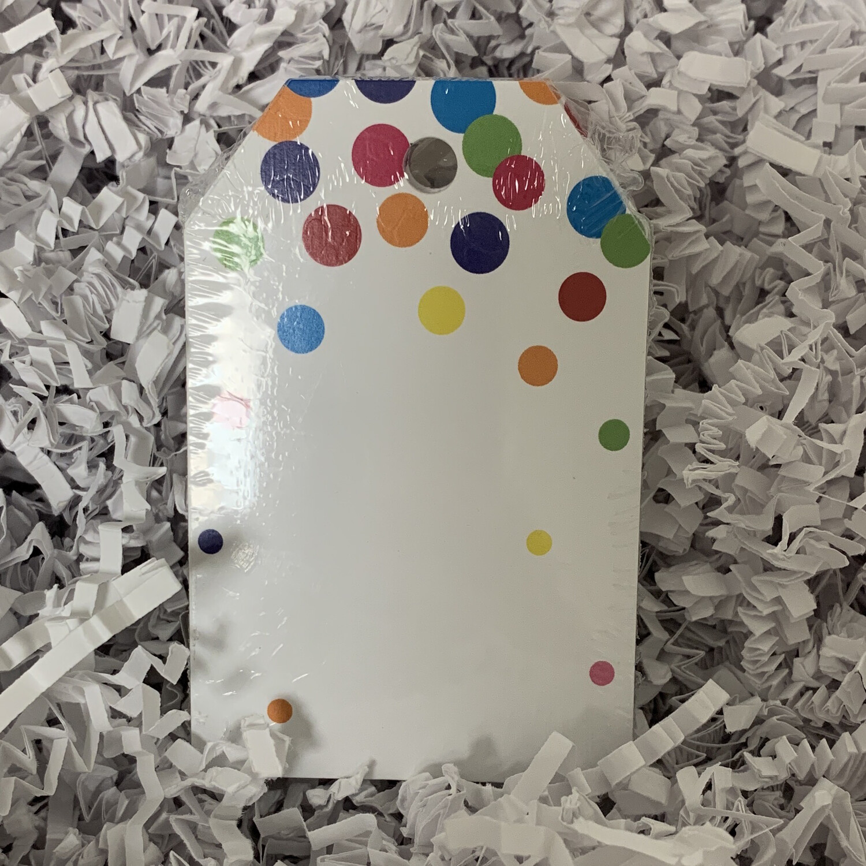 50 Gift Tags Confetti Dots