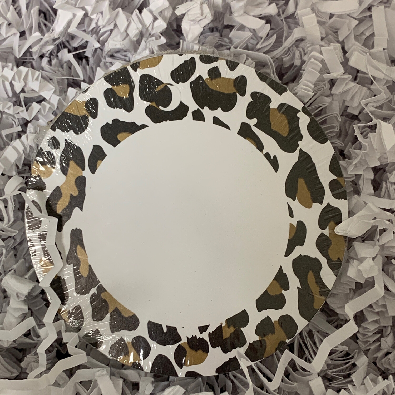 50 Gift Tags Round Leopard