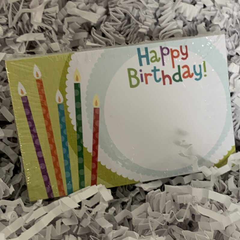 50 Gift Tags Happy Birthday Candles