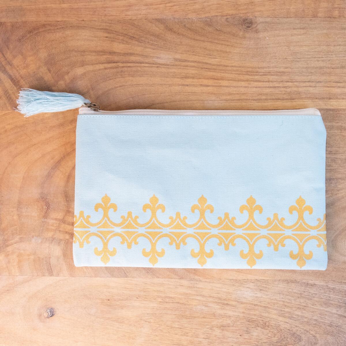 TRS Savannah Cosmetic Bag Sky/Gold