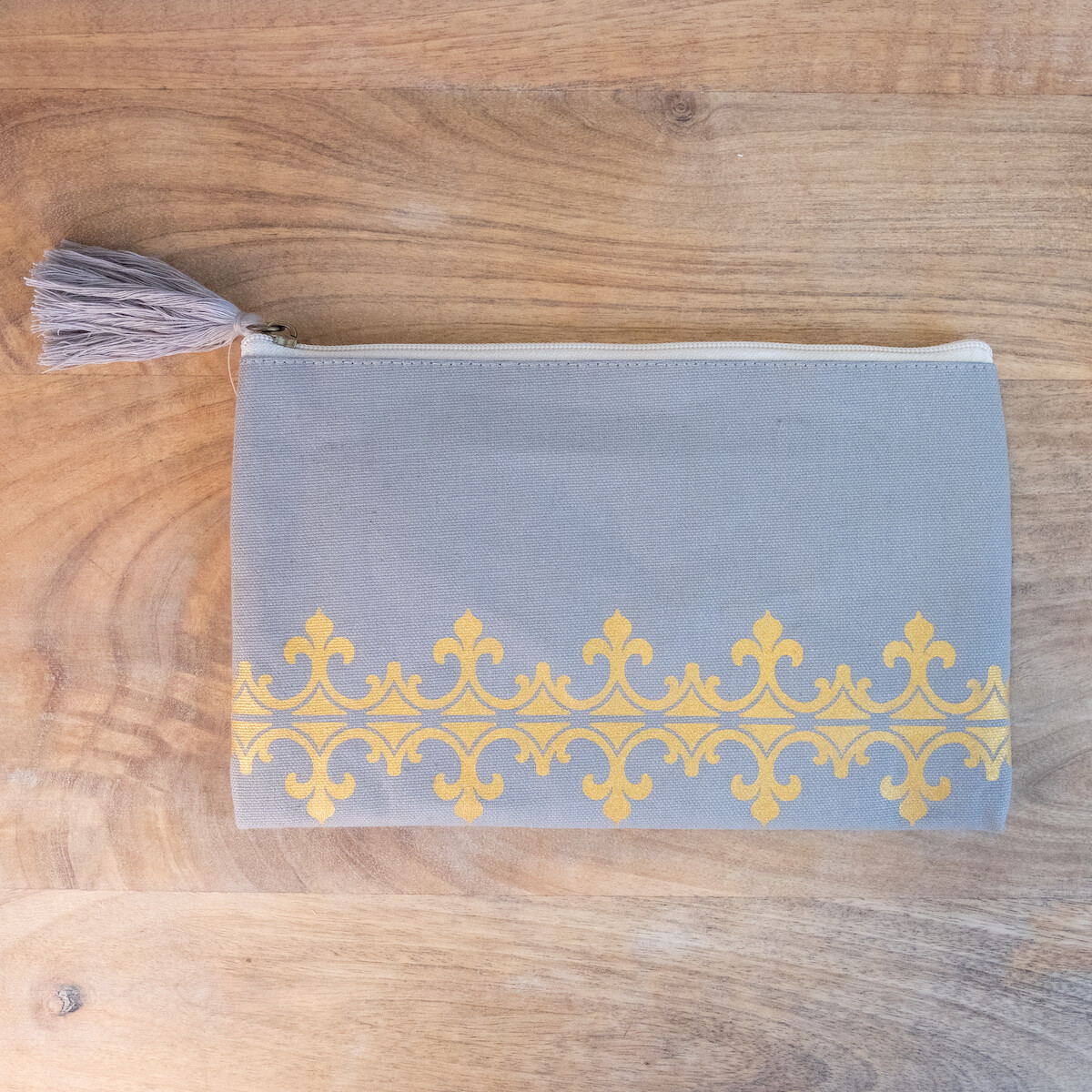 TRS Savannah Cosmetic Bag Gray/Gold
