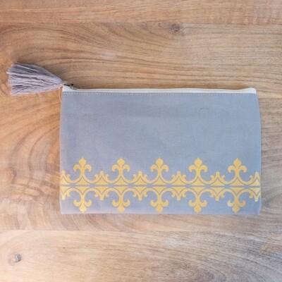 TRS Savannah Cosmetic Bag Gray/Gold
