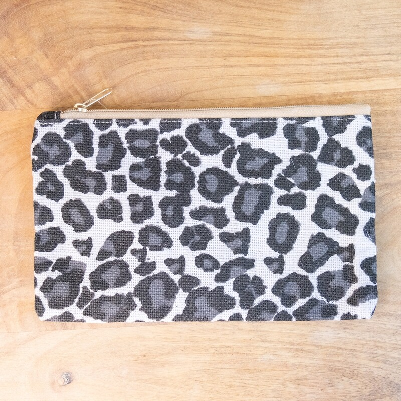 TRS Mia Leopard Cosmetic Bag White/Black