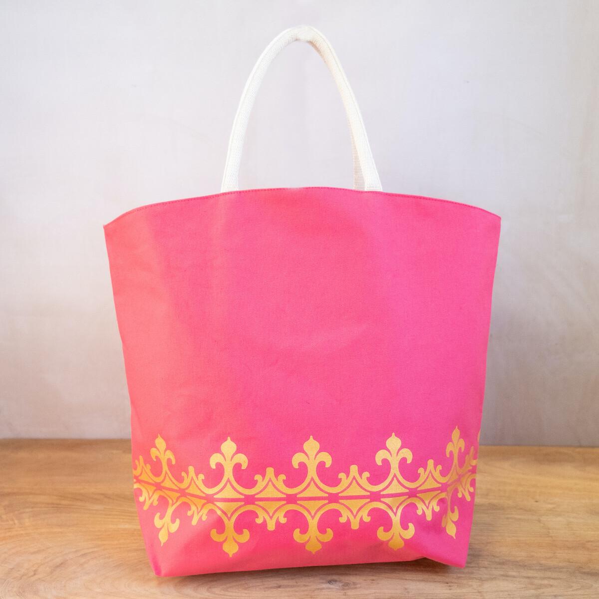TRS Savannah Tote Hot Pink/Gold