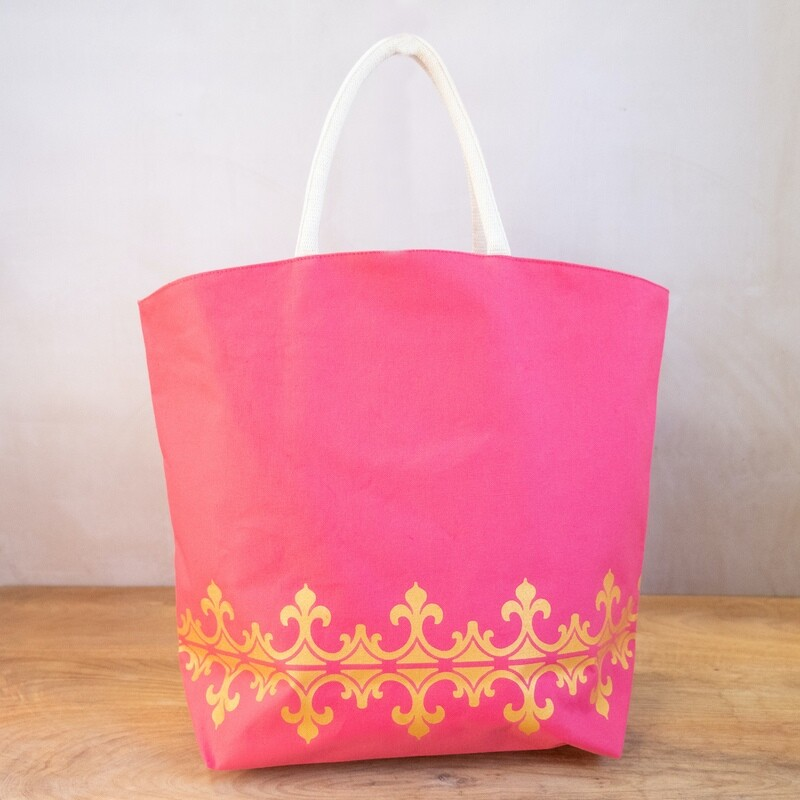 TRS Savannah Tote Hot Pink/Gold