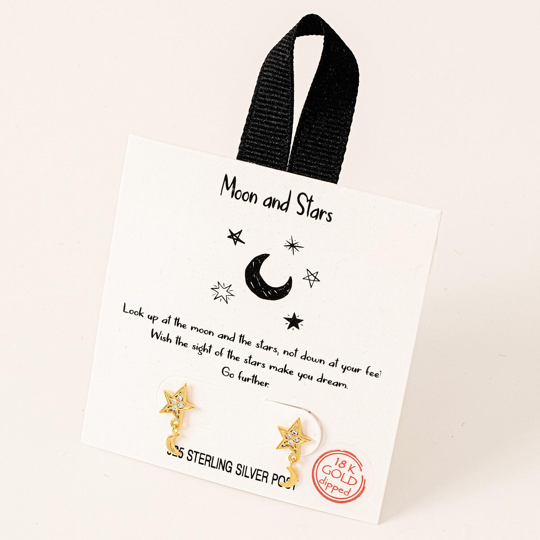 FA Earrings Moon & Stars