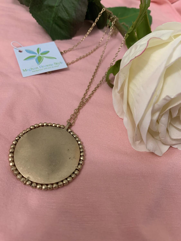 Megan Browne Necklace Gold Circle