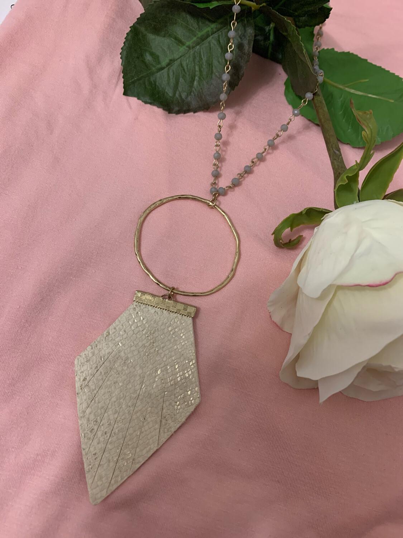 JM Agate Necklace Natural Fringe
