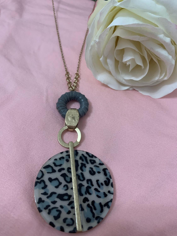 ATL Necklace Grey Leopard