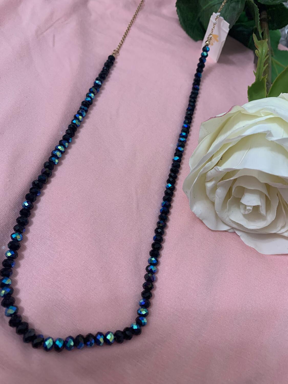 Love AO Necklace Navy Bead