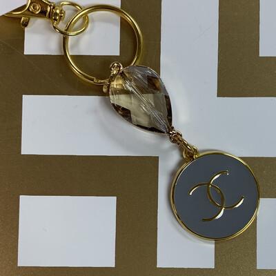 SJ Designer Keychain Grey CC