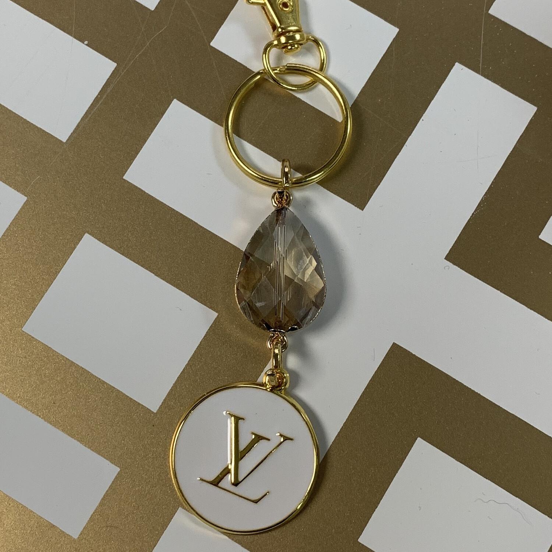 SJ Inspired Keychain White LV