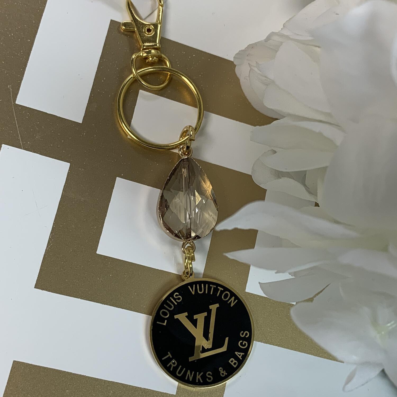 SJ Designer Keychain Black Trunks & Bags LV