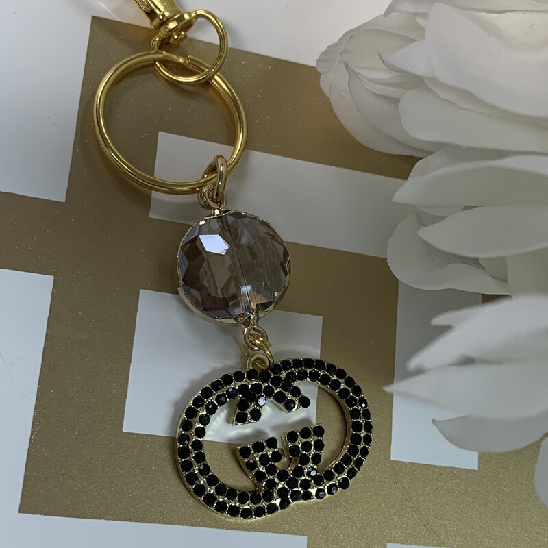 SJ Inspired Keychain Black Diamond Gucci