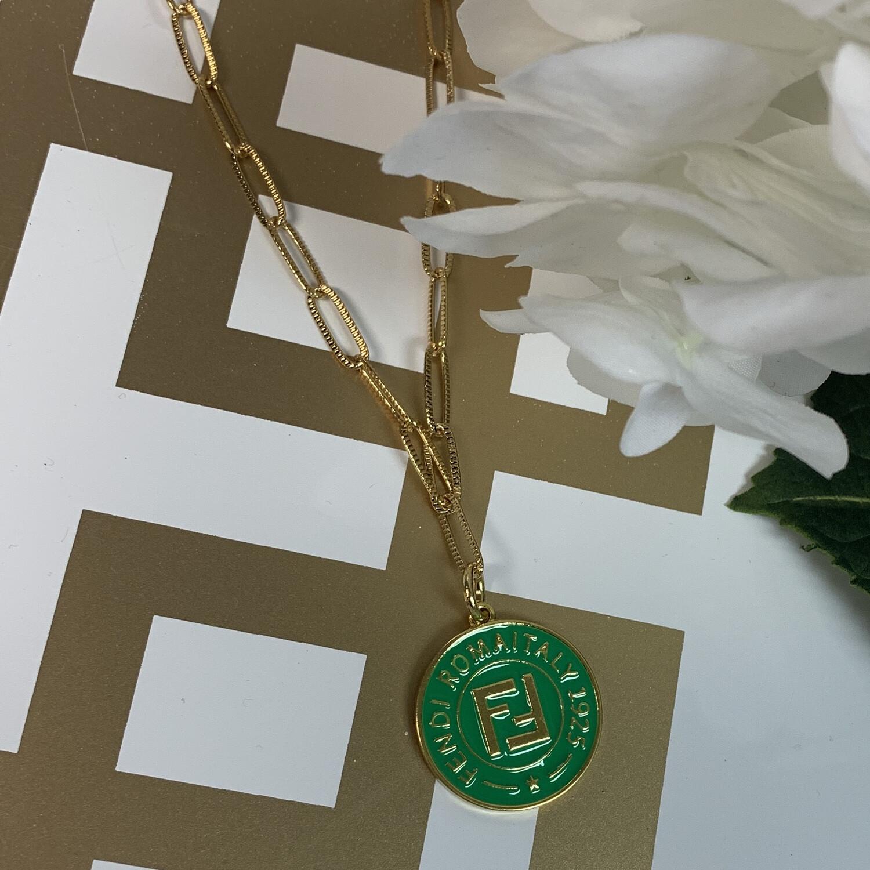 SJ Inspired Necklace Green Fendi