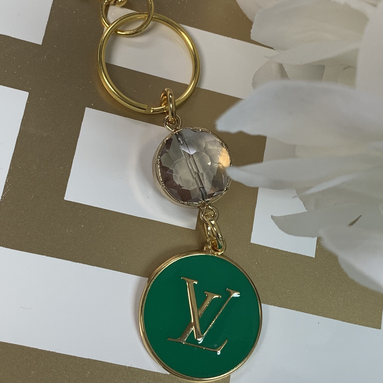 SJ Designer Keychain Green LV