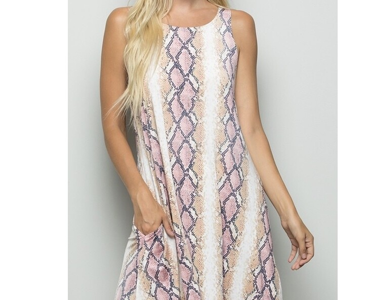 HEM Snakeskin Dress