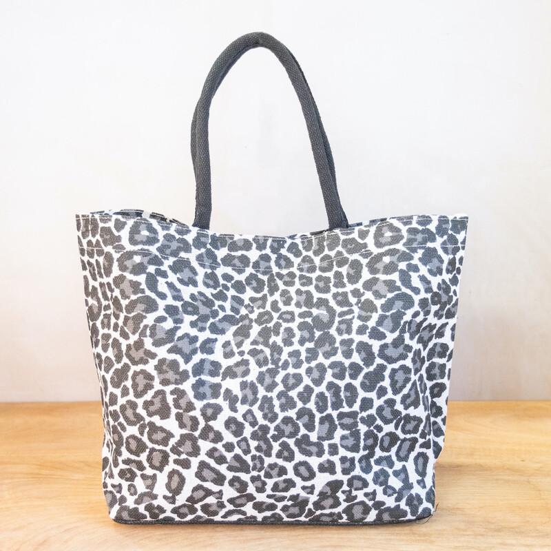 TRS Mia Leopard Tote White/Black