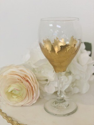 Gold Gild Stemmed Wine Glass 2