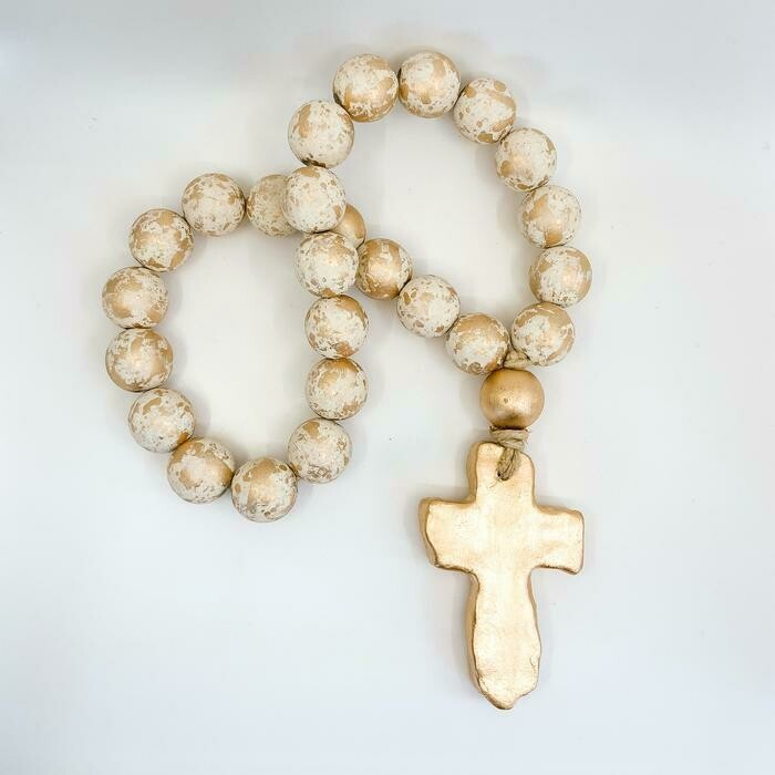 """SS Blessing Bead 25"""" Chunky Creamy White"""
