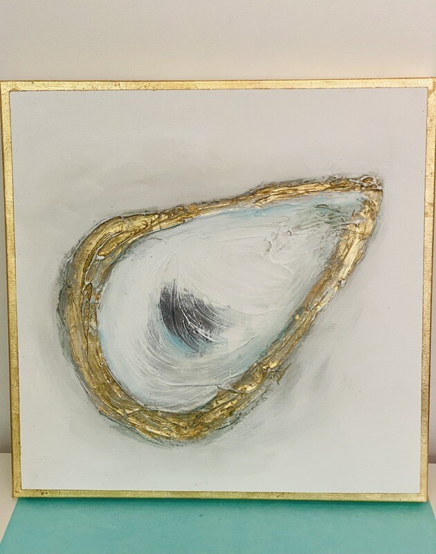 20x20 Oyster Painting Gold Edge 1