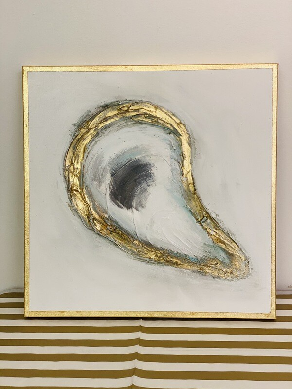 20x20 Oyster Painting Gold Edge 2