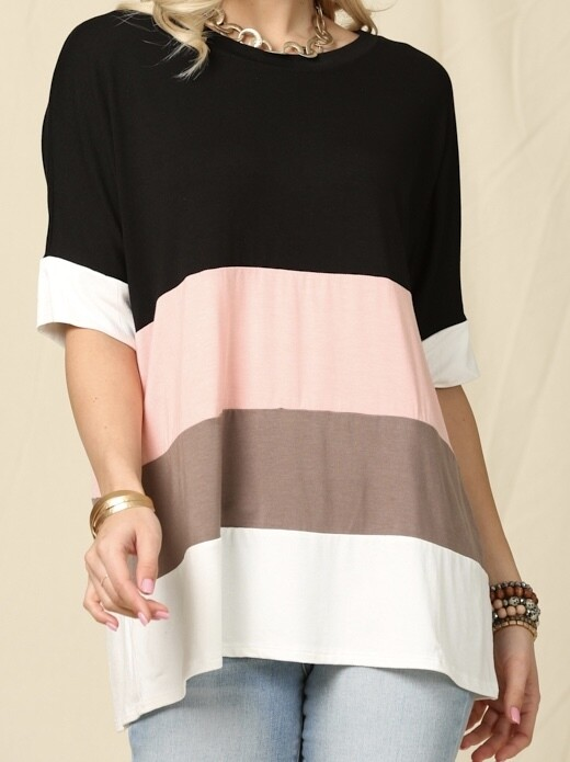 CC Stripe Color Top (S-3X)