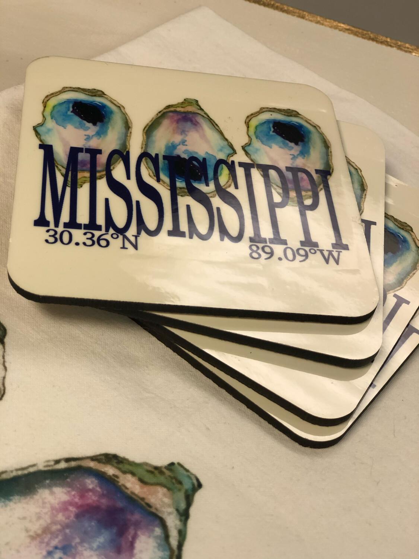 Poppy Mississippi Oyster Coasters