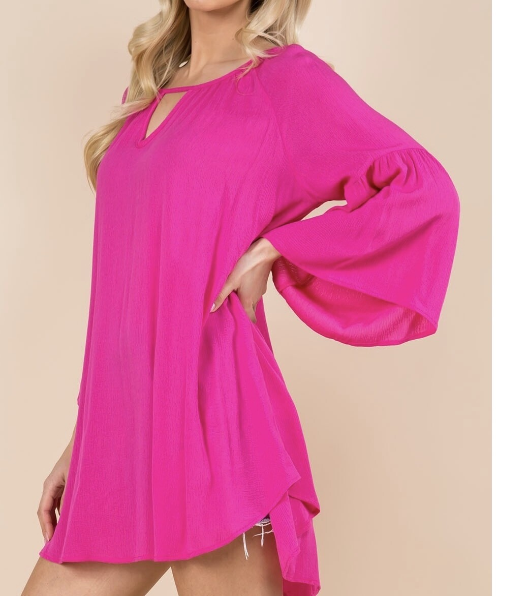 VIS Bell Sleeve Tunic Top (S-3X)
