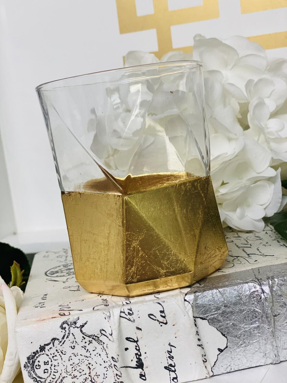 Geometric Gold Gild Glass