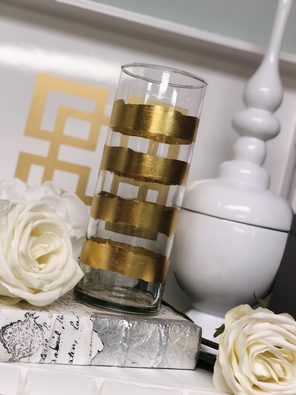 Gold Gild Stripe Vase