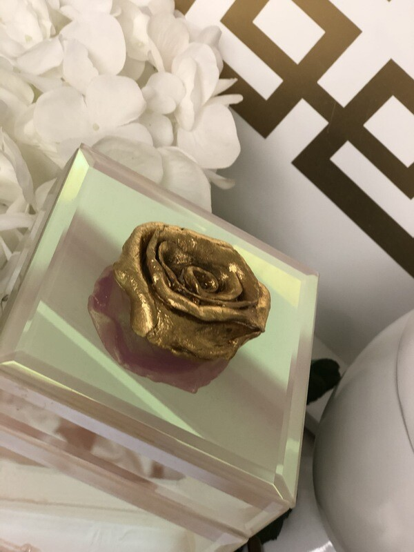 Designer Jewelry Box Pink Iridescent Rose
