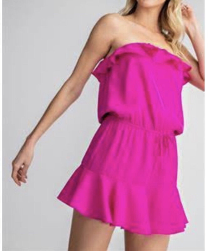GA Ruffle Bottom Tube Romper