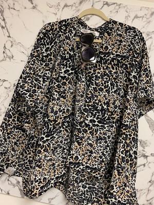 TRS Leopard Open Front Kimono