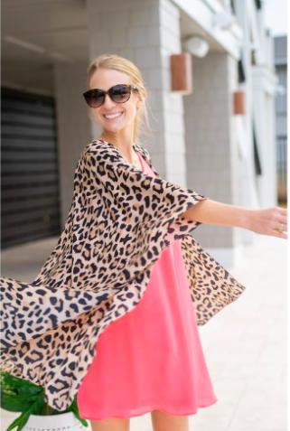 VL Kimono Brown Leopard