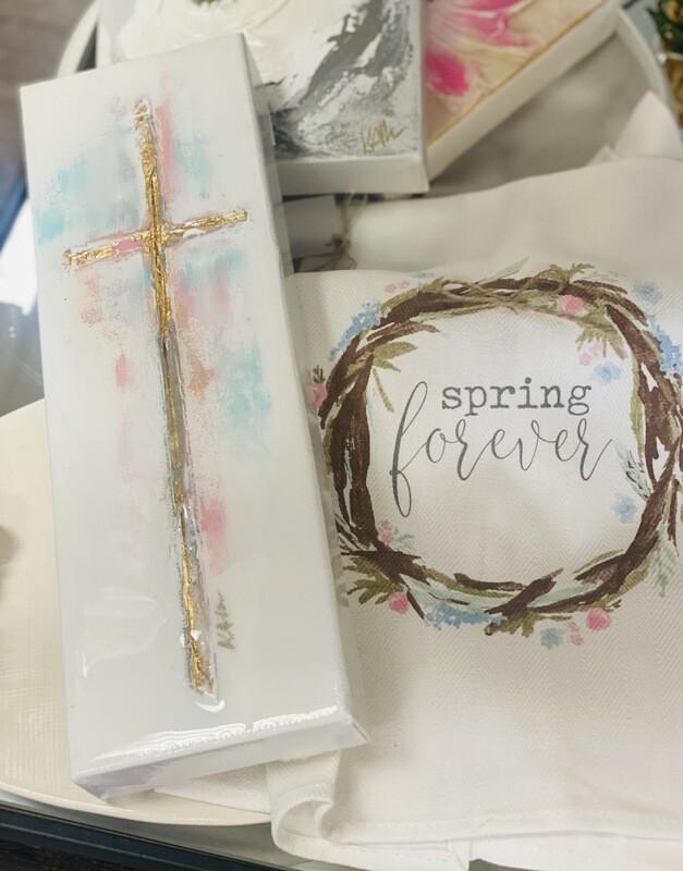 4x12 Spring Cross Painting