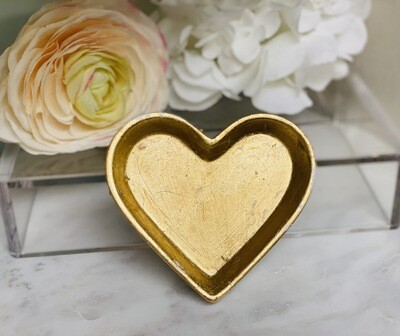 Gold Gild Heart Decor