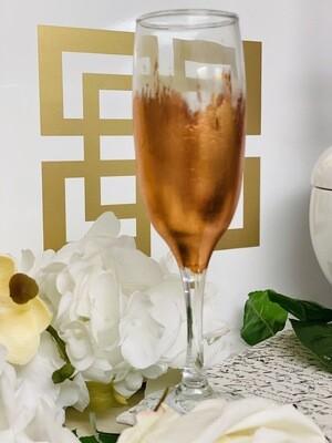 Rose Gold Gild Champagne Flute