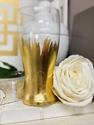 Gold Gild Beer Glass