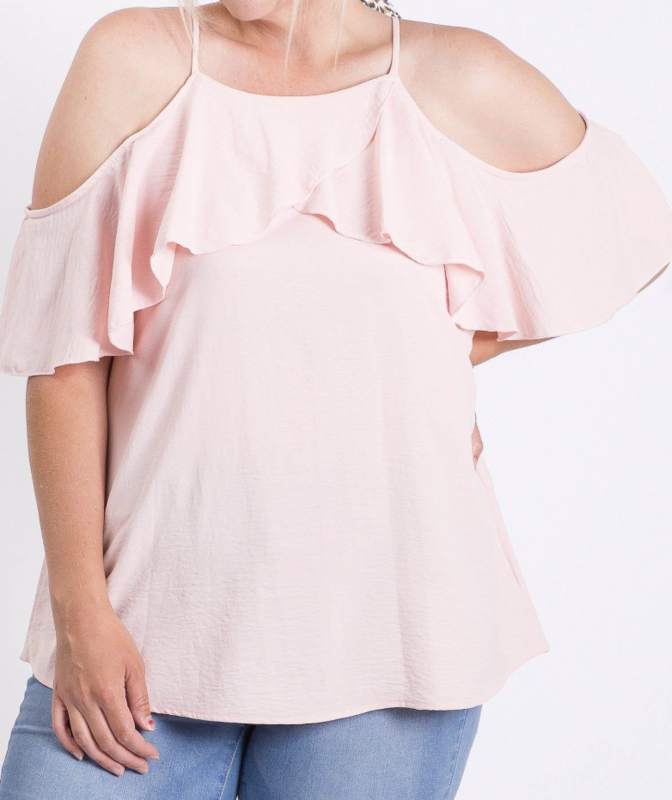 HC Cold Shoulder Top Curvy