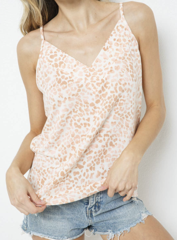 TS Animal Print Spaghetti Top
