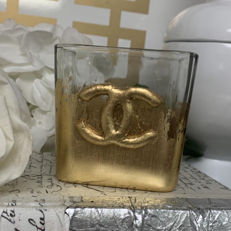 Designer Gold Gild Vase CC