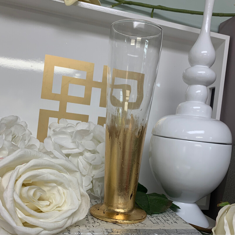 Gold Gild Narror Vase
