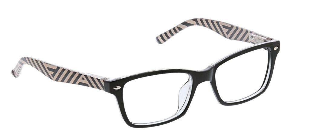 Peepers Zume Focus Black/Stripe +2.00
