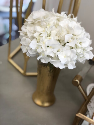 Gold Gild Vase With Hydrangea