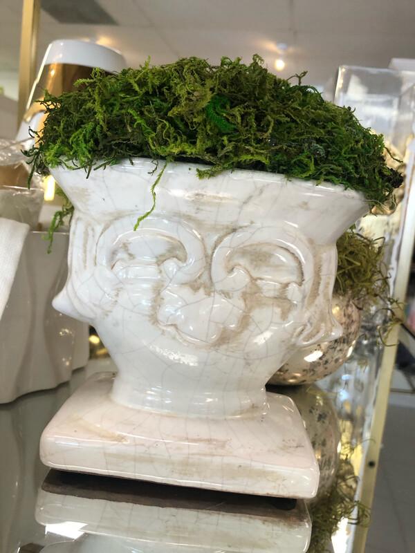 White Urn Greenery Large